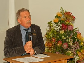 Councillor Dawid Botha launched the book