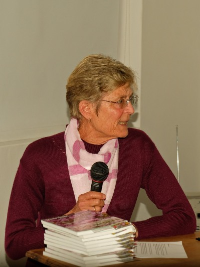 Di Marais introduced the contributors and rewarded each with a copy of the book