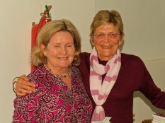 Di and Sandy, who was partly responsible for the flowers