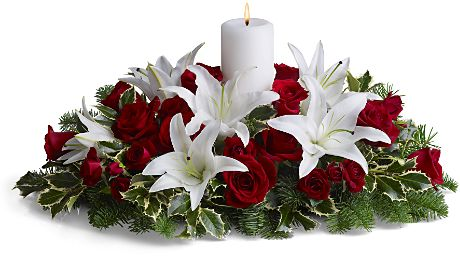 christmas-flowers-with-candles